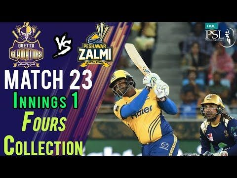 Peshawar Zalmi  Fours | Quetta Gladiators Vs Peshawar Zalmi | Match 23 | 10 March | HBL PSL 2018