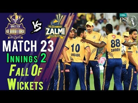 Quetta Gladiators Fall Of Wickets |Quetta Gladiators Vs Peshawar Zalmi|Match 23|10 Mar| HBL PSL 2018