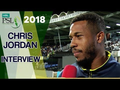 Chris Jordan Interview | Quetta Gladiators Vs Peshawar Zalmi | Match 10 | 1st March | HBL PSL 2018