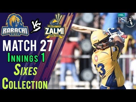 Peshawar Zalmi  Sixes | Peshawar Zalmi Vs Karachi Kings  | Match 27 | 15 March | HBL PSL 2018
