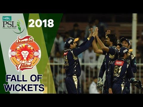 Islamabad United  Fall Of Wickets | Quetta Gladiators Vs Islamabad United  | Match 9 | HBL PSL 2018
