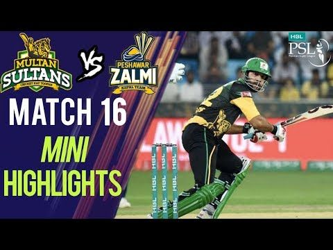 Short Highlights | Peshawar Zalmi Vs Multan Sultans  | Match 16 | 6th March | HBL PSL 2018