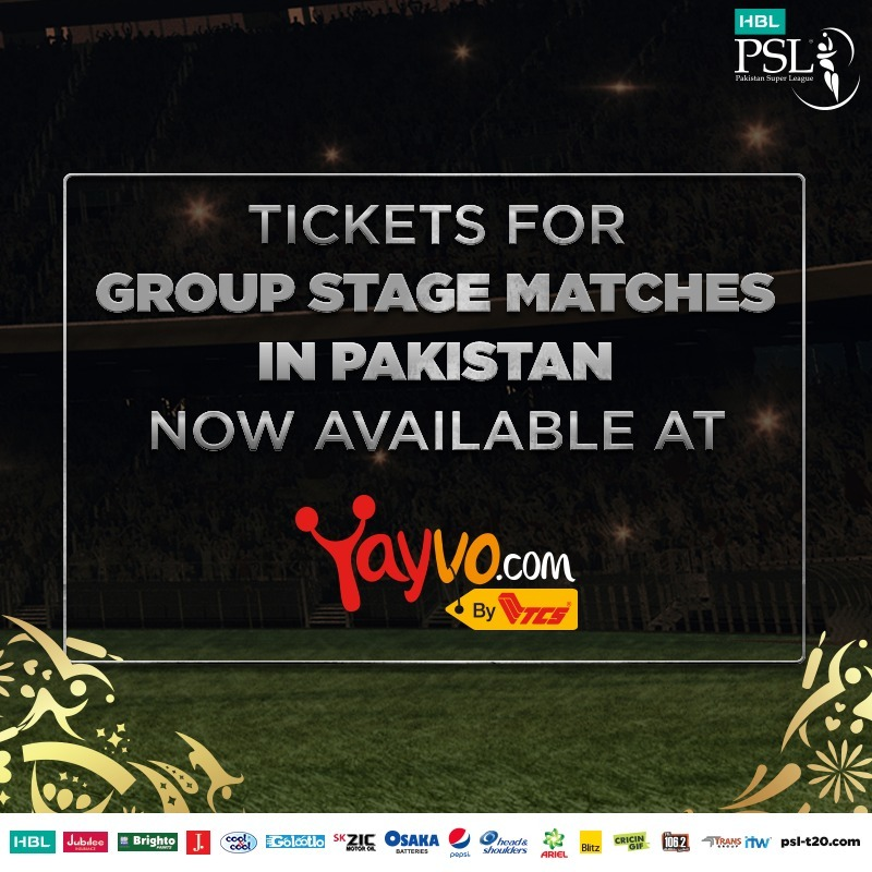 HBL PSL 2019 Pakistan group matches tickets are NOW available online
