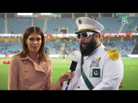 """Meet the """"cricket dictator"""" the contender of best dressed HBL PSL fan."""