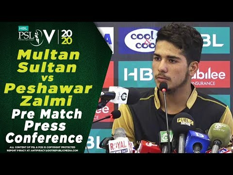 Amir Khan Pre Match Press Conference | Multan Sultan vs Peshawar Zalmi | HBL PSL 2020