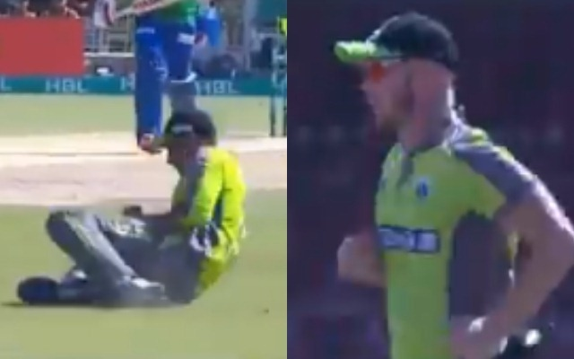 'Another one goes and the crowd goes wild' – Chris Lynn says in an empty stadium during a PSL game