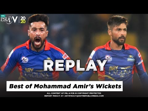Best Of Mohammad Amir in PSL 5 Till Now | Best Performance Till Now | HBL PSL 2020
