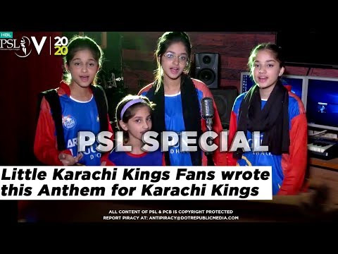 Little Karachi Kings Fans wrote this Anthem for Karachi Kings | HBL PSL 5 | 2020