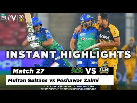 Multan Sultans vs Peshawar Zalmi | Full Match Instant Highlights | Match 27 | 13 March | HBL PSL 5