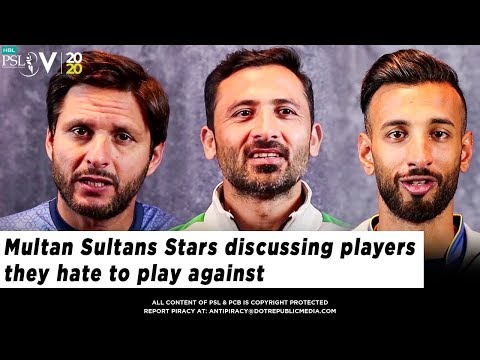 Multan Sultans Stars discussing players they hate to play against | HBL PSL 2020