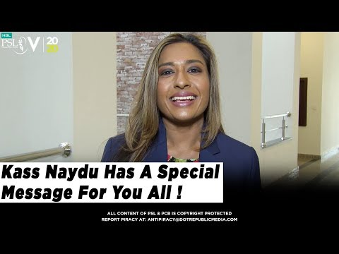 Kass Naydu Has A Special Message For You All ! | HBL PSL 2020