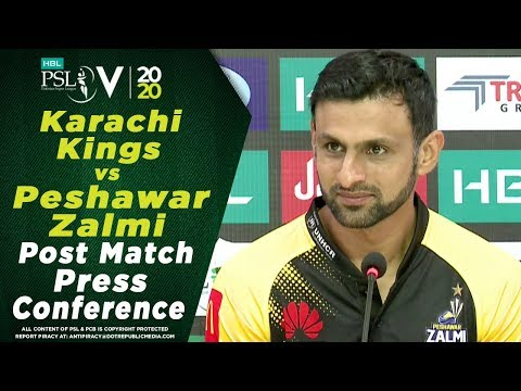 Shoaib Malik Post Match Press Conference | Karachi Kings vs Peshawar Zalmi | HBL PSL 2020