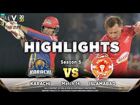 Karachi Kings vs Islamabad United | Full Match Highlights | Match 14 | 1 March | HBL PSL 2020