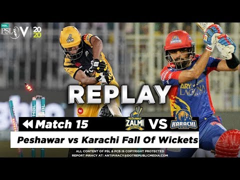 Peshawar vs Karachi Fall Of Wickets | Peshawar Zalmi vs Karachi Kings | Match 15 | HBL PSL 2020