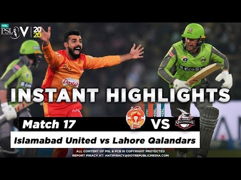 Islamabad United vs Lahore Qalandars | Full Match Instant Highlights | Match 17 | 4 March | HBL PSL