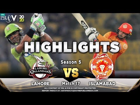 Lahore Qalandars vs Islamabad United | Full Match Highlights | Match 17 | 4 March | HBL PSL 2020