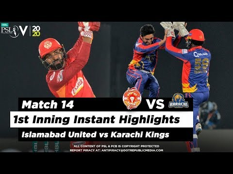 Islamabad United vs Karachi Kings | 1st Inning Highlights | Match 14 | 1 March 2020 | HBL PSL 2020