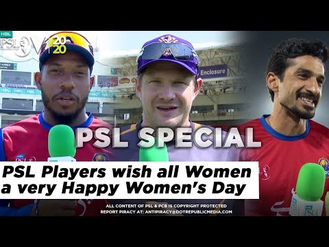 PSL Players wish all Women a very Happy Women's Day | HBL PSL 2020