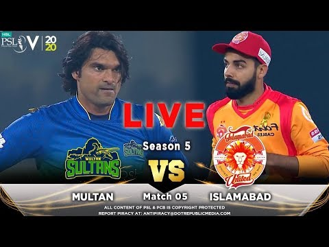 LIVE – Islamabad United Vs Multan Sultans | Match 5 | HBL PSL 5