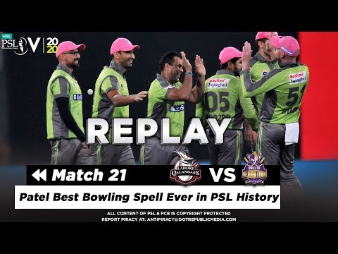 Samit Patel Best Bowling Spell Ever in PSL History | Quetta vs Lahore | Match 21 | HBL PSL 2020