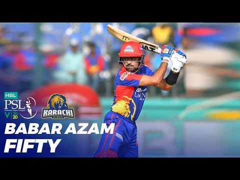 Babar Azam Fifty | Karachi Kings Vs Peshawar Zalmi | HBL PSL 2020 | MB2T