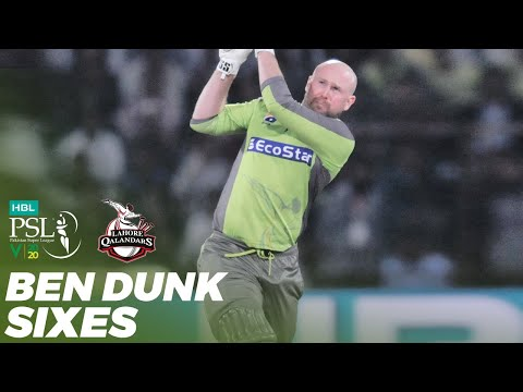 Ben Dunk Sixes | Lahore Qalandars vs Karachi Kings | Match 23 | HBL PSL 2020 | MB2T