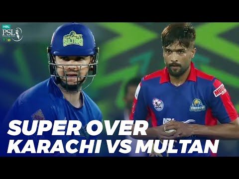 Super Over | Karachi Kings vs Multan Sultans | Match 31 | HBL PSL 2020 | MB2E
