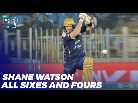 Shane Watson All Sixes And Fours   HBL PSL 2020   MB2T