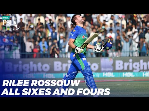 Rilee Rossouw All Sixes And Fours In HBL PSL 2020 | MB2T