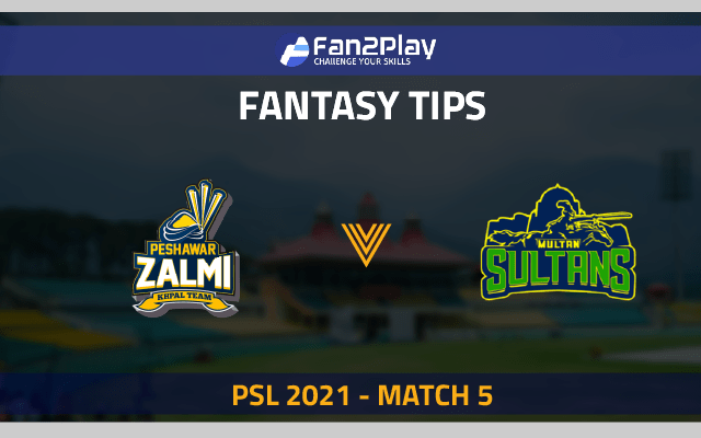 PSL 2021, Match 5 – PES vs MUL: Fan2Play Fantasy Cricket Tips, Prediction, Playing XI and Pitch Report