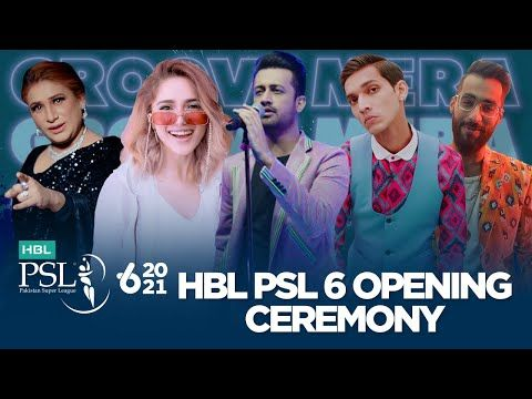 HBL PSL 6 Opening Ceremony feat. Atif Aslam | Naseebo Lal | Aima Baig | Imran Khan | Young Stunners