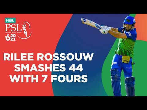Rilee Rossouw Smashes 44 With 7 Fours | Multan Sultans vs Karachi Kings | Match 16 | HBL PSL 6 |MG2T